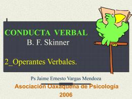 CONDUCTA VERBAL B. F. Skinner 2_Variables Controladoras