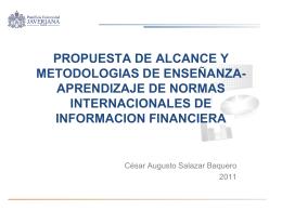 El estudio al debido proceso de IASB como un aporte a la