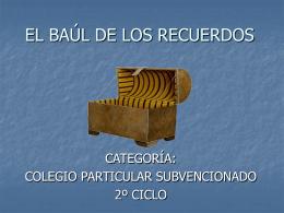 EL BAUL DE LOS RECUERDOS
