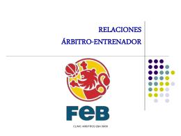 RELACIONES ARBITRO ENTRENADOR