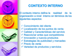 CONTEXTO INTERNO - OoCities