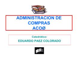 ADMINISTRACION DE COMPRAS ACO&#216