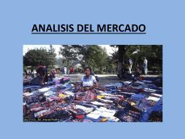 ANALISIS DEL MERCADO - ::WEB DEL PROFESOR::