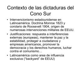 Contexto de las dictaduras del Cono Sur