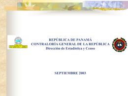 Clasificaciones en Panam&#225