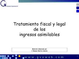 Tratamiento fiscal de los Asimilables a Trabajadores