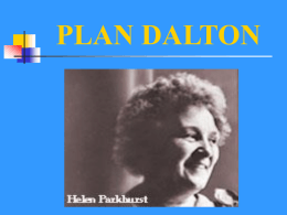 PLAN DALTON - Universidad de Castilla