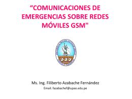 'SISTEMAS DE COMUNICACIONES DE EMERGENCIAS …