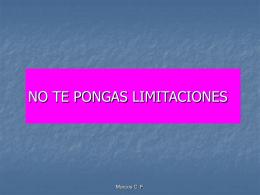 No te pongas limitaciones