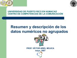 UNIVERSIDAD DE PUERTO RICO EN HUMACAO CENTRO …