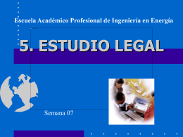 ESTUDIO LEGAL - Biblioteca Central de la Universidad