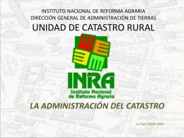 INSTITUTO NACIONAL DE REFORMA AGRARIA …
