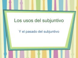 Los usos del subjuntivo - TG208