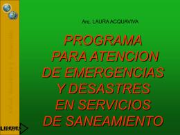 PROGRAMA PARA LA ATENCION DE EMERGENCIAS Y …