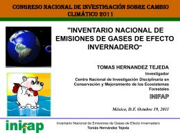 Inventario nacional de emisiones de gases de efecto