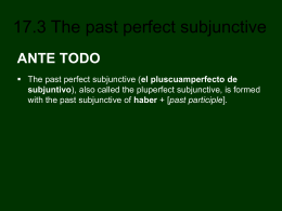 17.3 The past perfect subjunctive