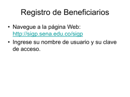 Registro de Beneficiarios - Oracle Application Server