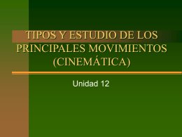Tipos de movimiento - INTEF