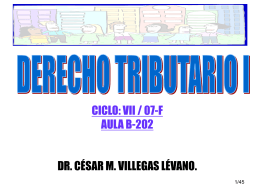 CURSO: DERECHO TRIBUTARIO I. CICLO / SECC.: VII / 49T
