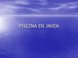 PISCINA EN JAVEA - INNOVA. Estudi de disseny, web i