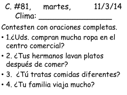 C. #81, martes, 11/3/14 Clima: