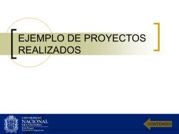 EJEMPLO DE PROYECTOS REALIZADOS