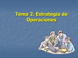 Tema 2. Estrategia de Operaciones