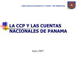 La CCP y las Cuentas Nacionales de Panam&#225