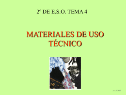 MATERIALES TECNOLOGICOS - INTEF