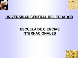 UNIVERSIDAD CENTRAL DEL ECUADOR ESCUELA DE …