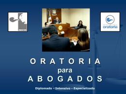 DIPLOMADO INTENSIVO DE ORATORIA PARA ABOGADOS