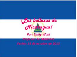 Las bellezas de Nicaragua!
