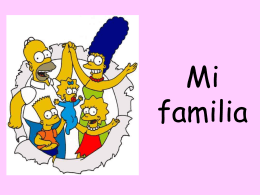 Mi familia - Teaching Ideas