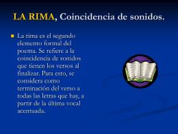 LA RIMA, Coincidencia de sonidos.