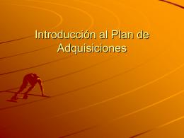 Plan de Adquisiciones