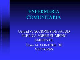 ENFERMERIA COMUNITARIA - Facultad de Medicina