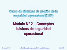 ICAO SMS Module 02 - Basic safety concepts