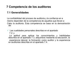 Competencia de los auditores