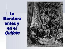 La literatura antes y en el Quijote