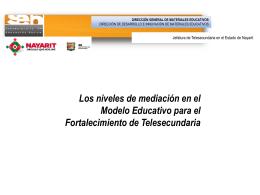 Diapositiva 1 - BIENVENIDOS: Telesecundarias Nayarit