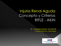 Injuria Renal Aguda Concepto y Criterios RIFLE