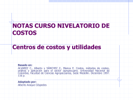 CENTROS DE COSTOS Y DE UTILIDADES