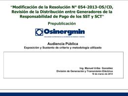 Audiencia Publica - OSINERGMIN -GART