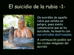 AG1- El suicidio de la rubia -1-