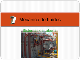 FLUJO FLUIDO EN TUBERIAS