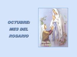 Octubre: mes del rosario