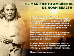 Manifiesto ambiental del Jefe Indio Sealth (pps)