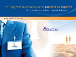 CONGRESO INTERNACIONAL DE TURISMO DE TENERIFE