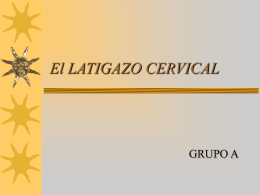 El LATIGAZO CERVICAL - Universidad de Castilla