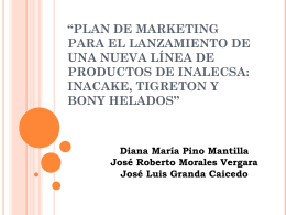 PLAN DE MARKETING PARA EL LANZAMIENTO DE UNA …